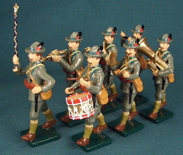 BG224 - Italian Alpine Infantry Band by Beau Geste WWI - Piers Christian Toy Soldiers