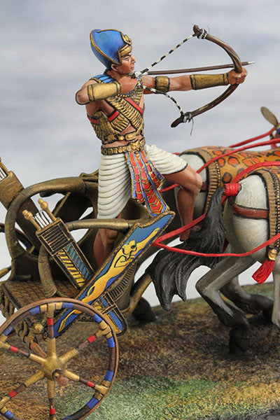YZ54017 - Egyptian Chariot Pharaoh Ramses II (12th Century B.C.) by YZCaesar - Piers Christian Toy Soldiers - 1