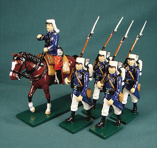 BG239 Beau Geste French Foreign Legion Mounted Officer and Marching men, 1900 - Piers Christian Toy Soldiers