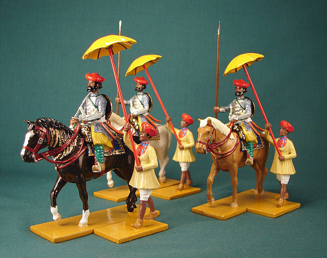 BG249 - Gwalior horsemen in uniform form Shiraji's times for the Delhi Durbar of 1903 from Beau Geste - Piers Christian Toy Soldiers