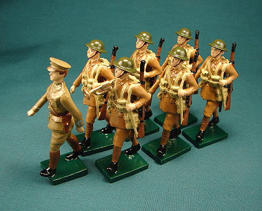 BG298 - British Infantry of 1915 Marching, made by Beau Geste WWI - Piers Christian Toy Soldiers