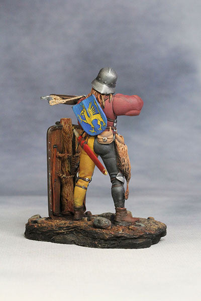 YZ54025 - Crossbowman with Shield (14th-15th Century A.D.) YZCaesar - Piers Christian Toy Soldiers - 4
