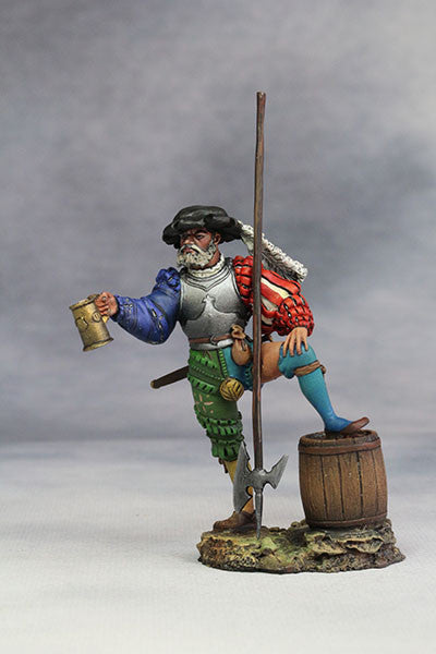 YZ54030 - Landsknecht with Beer (15th Century A.D.) from YZCaesar - Piers Christian Toy Soldiers - 1