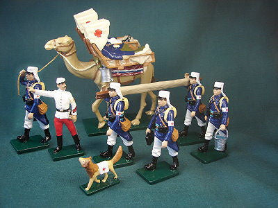 BG347- Beau Geste French Foreign Legion of 1900, Camel Ambulance - Piers Christian Toy Soldiers - 2