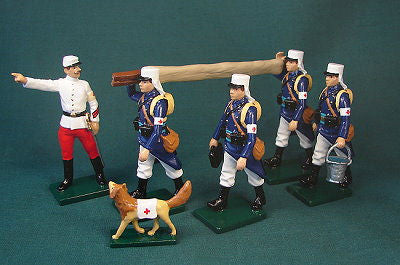 BG348 - Beau Geste French Foreign Legion Field Medical Corps of 1900 period - Piers Christian Toy Soldiers - 1