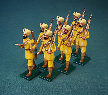 BG349 - Indian Infantry Marching, British Army, by Beau Geste WWI - Piers Christian Toy Soldiers