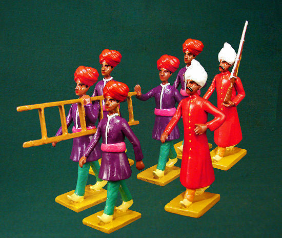 BG352 - Escort guard of Kapurthala (Group right) for the Delhi Durbar of 1903 from Beau Geste - Piers Christian Toy Soldiers - 1