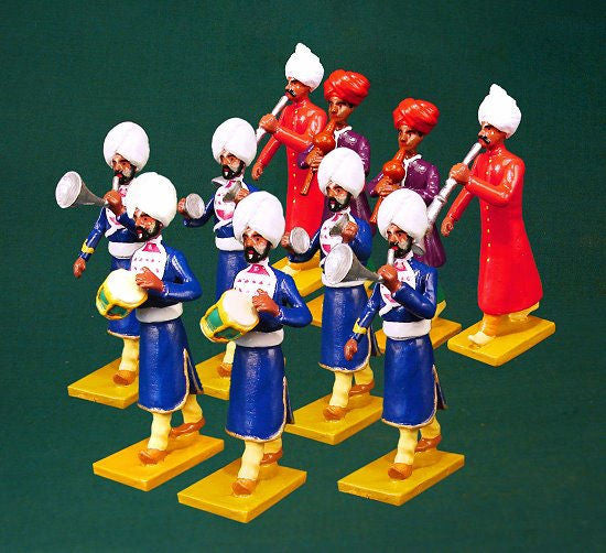 BG353 - Music Band of Kapurthala (Group right) for the Delhi Durbar of 1903 from Beau Geste - Piers Christian Toy Soldiers - 1