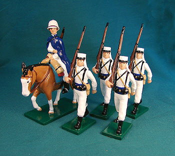 BG365- Beau Geste French Foreign Legion, Mounted Officer and marching men of 1907 - Piers Christian Toy Soldiers