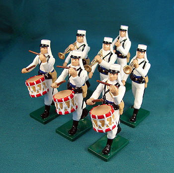 BG367 - Beau Geste French Foreign Legion Marching Band in Campaign Dress 1907 - Piers Christian Toy Soldiers