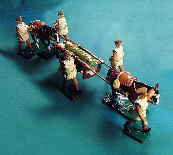 BG375 - British Army Medical Corps, Mule Ambulance, Western Front Winter by Beau Geste WWI - Piers Christian Toy Soldiers - 2