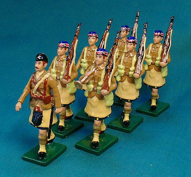 BG391B - Scottish Infantry Marching, with Hat, Beau Geste WWI - Piers Christian Toy Soldiers