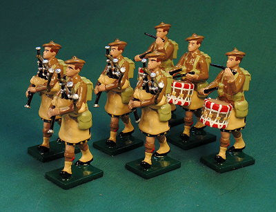 BG392A - Scottish Infantry, Pipes and Drums Band with Beret, Beau Geste WWI - Piers Christian Toy Soldiers