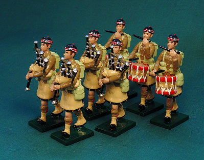 BG392B - Scottish Infantry Pipes and Drums Band with Hat, Beau Geste WWI - Piers Christian Toy Soldiers