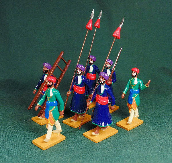 BG400 - Escort Guards of Jaipur  for the Delhi Durbar of 1903 from Beau Geste - Piers Christian Toy Soldiers - 1