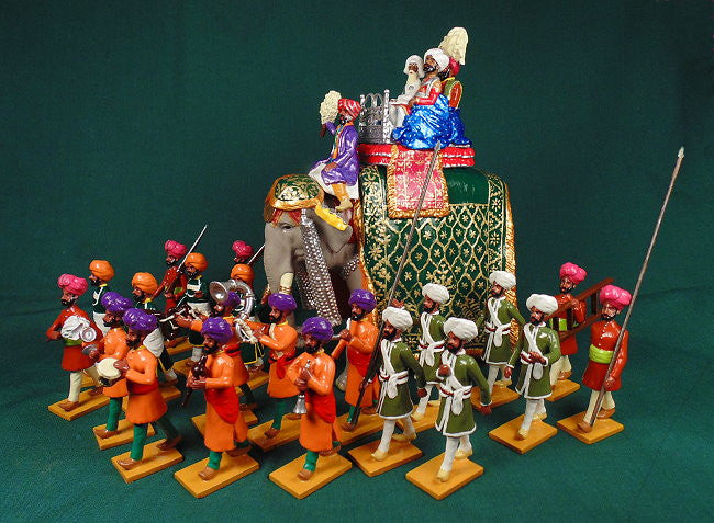 BG407 - Servants and guards of Nabha  for the Delhi Durbar of 1903 from Beau Geste - Piers Christian Toy Soldiers - 2