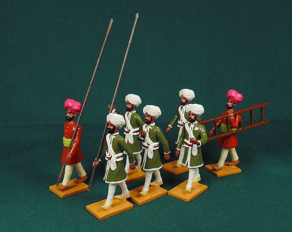 BG406 - Escort guards of Nabha  for the Delhi Durbar of 1903 from Beau Geste - Piers Christian Toy Soldiers - 1
