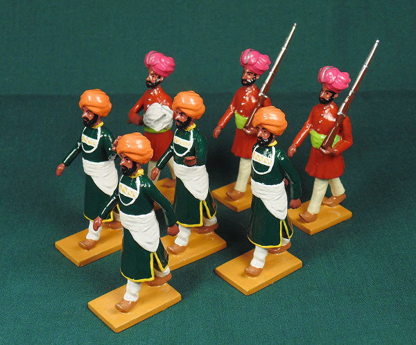 BG407 - Servants and guards of Nabha  for the Delhi Durbar of 1903 from Beau Geste - Piers Christian Toy Soldiers - 1