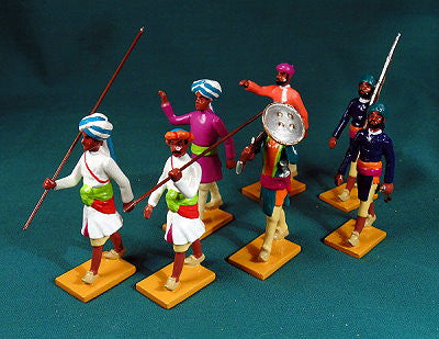 BG412 - Escort Guards from Datia (group left). Delhi Durbar 1903 from Beau Geste - Piers Christian Toy Soldiers - 1