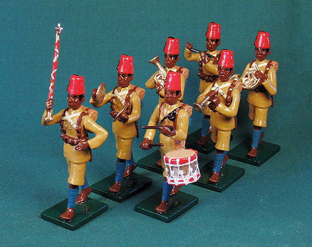 BG417- Military Band of  the King's African Rifles,  Beau Geste WWI. - Piers Christian Toy Soldiers