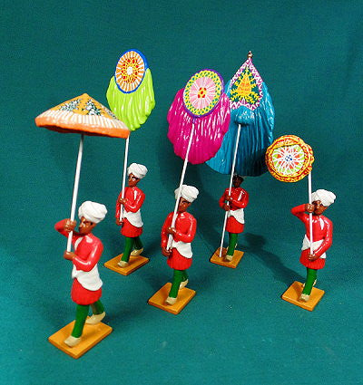 BG423 - Standard Bearers of Rewa,  Delhi Durbar 1903 from Beau Geste Delhi Durbar - Piers Christian Toy Soldiers