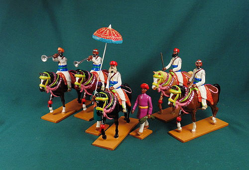 BG440 - Mounted Elite Cavalry of Bundi, Delhi Durbar 1903, made by Beau Geste. - Piers Christian Toy Soldiers - 2