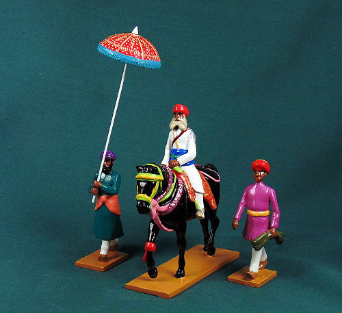 BG439, Elite Cavalry From Bundi, Officer and Servants of the Delhi Durbar of 1903 from Beau Geste - Piers Christian Toy Soldiers