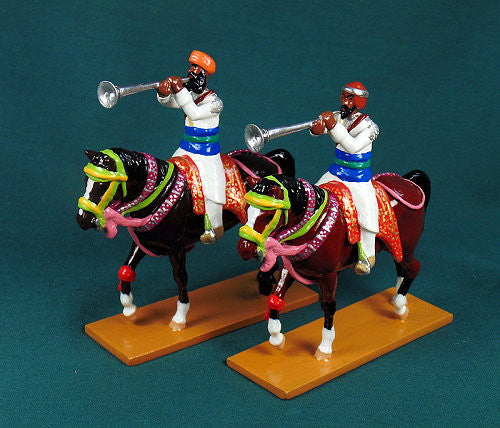 BG441 - Mounted Band of the Elite Cavalry of Bundi, Delhi Durbar 1903, made by Beau Geste. - Piers Christian Toy Soldiers