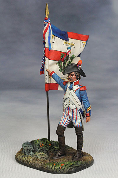 YZ54042 - Standard Bearer, French Revolutionary Army (1794) from YZCaesar - Piers Christian Toy Soldiers - 1