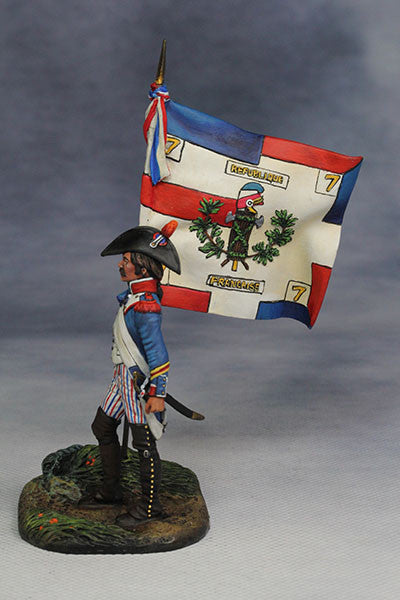 YZ54042 - Standard Bearer, French Revolutionary Army (1794) from YZCaesar - Piers Christian Toy Soldiers - 2