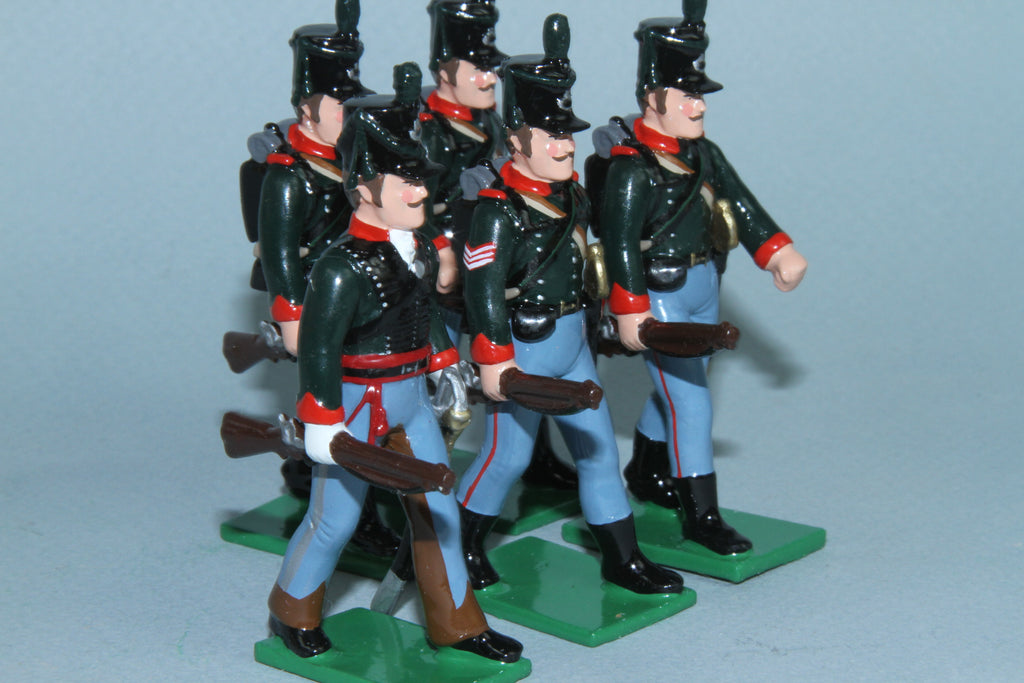 N294 - Napoleonic Royal Corsican Rangers 1804-1817 Rifles at the Trail from Regal Toy Soldiers