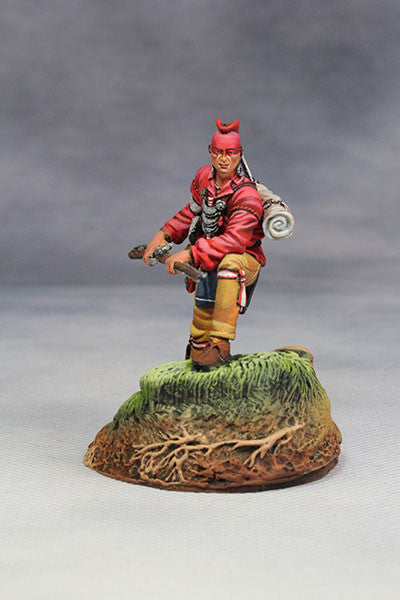 YZ54061 - Woodland Indian with musket. (18th Century) by YZCaesar - Piers Christian Toy Soldiers - 2