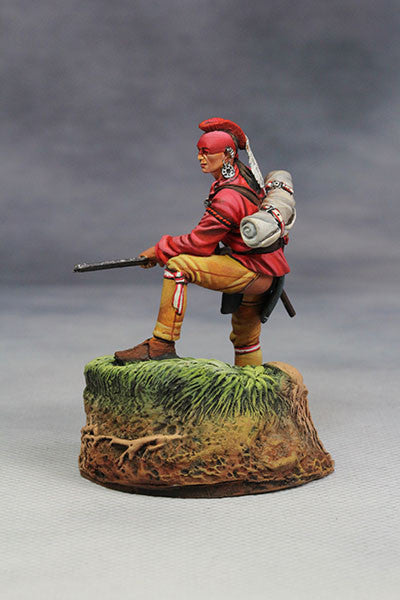 YZ54061 - Woodland Indian with musket. (18th Century) by YZCaesar - Piers Christian Toy Soldiers - 3