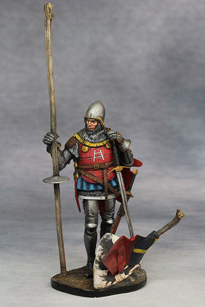 YZ75008- Italian Medieval Knight (mid 15th Century), 75mm figure from YZCaesar - Piers Christian Toy Soldiers - 5
