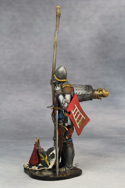 YZ75008- Italian Medieval Knight (mid 15th Century), 75mm figure from YZCaesar - Piers Christian Toy Soldiers - 6