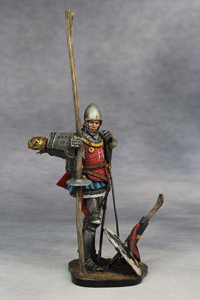 YZ75008- Italian Medieval Knight (mid 15th Century), 75mm figure from YZCaesar - Piers Christian Toy Soldiers - 7