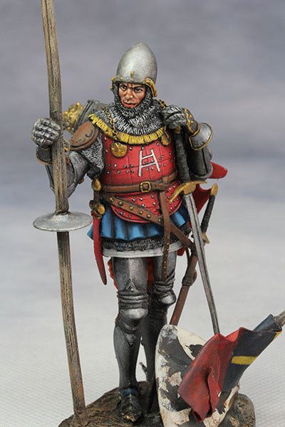 YZ75008- Italian Medieval Knight (mid 15th Century), 75mm figure from YZCaesar - Piers Christian Toy Soldiers - 4