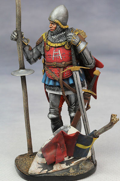 YZ75008- Italian Medieval Knight (mid 15th Century), 75mm figure from YZCaesar - Piers Christian Toy Soldiers - 1