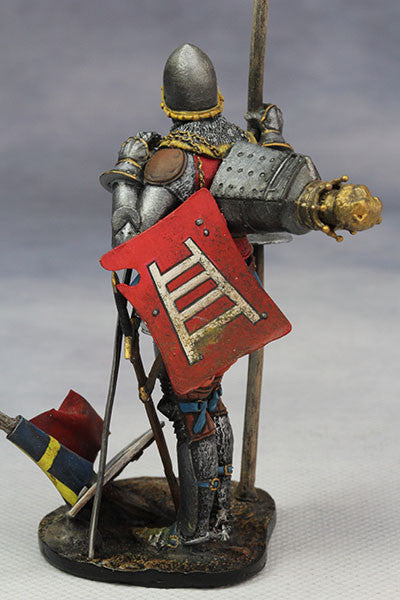 YZ75008- Italian Medieval Knight (mid 15th Century), 75mm figure from YZCaesar - Piers Christian Toy Soldiers - 2