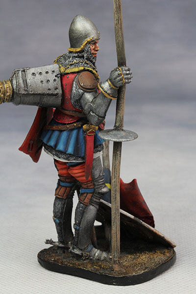 YZ75008- Italian Medieval Knight (mid 15th Century), 75mm figure from YZCaesar - Piers Christian Toy Soldiers - 3