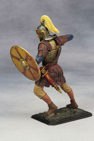 YZ75011- Roman Cavalry Officer (3rd Century A.D.), 75mm scale made by YZCaesar - Piers Christian Toy Soldiers - 3