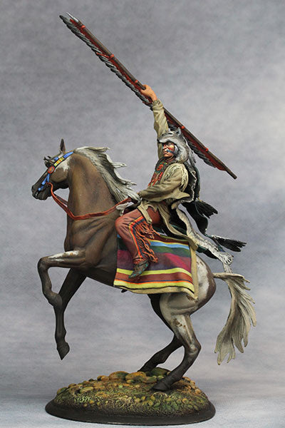 YZ75015 - Scout with Wolf Felt, Sioux Nations 1850s' made by YZCaesar - Piers Christian Toy Soldiers