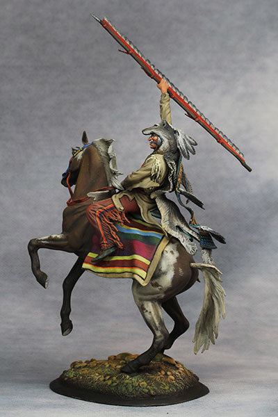 YZ75015 - Scout with Wolf Felt, Sioux Nations 1850s' made by YZCaesar - Piers Christian Toy Soldiers - 2