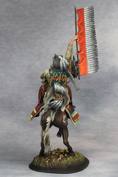 YZ75015 - Scout with Wolf Felt, Sioux Nations 1850s' made by YZCaesar - Piers Christian Toy Soldiers - 3