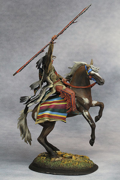 YZ75015 - Scout with Wolf Felt, Sioux Nations 1850s' made by YZCaesar - Piers Christian Toy Soldiers - 4