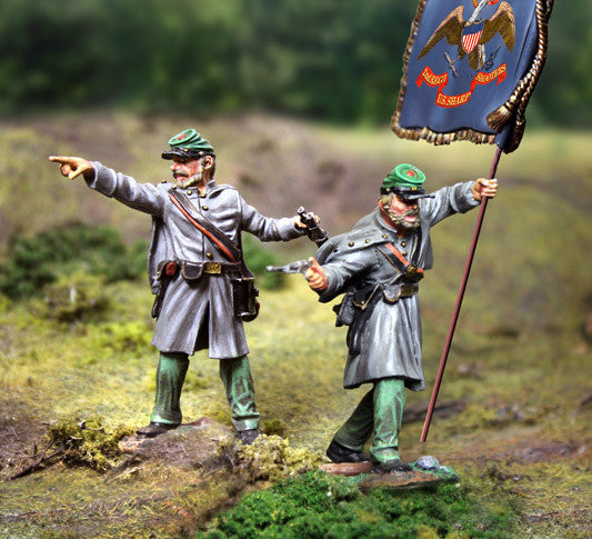 CS00786 - Burdens Sharpshooters Command Set. ACW Confederate - Piers Christian Toy Soldiers