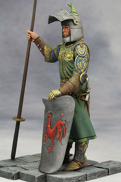 YZ90006 -  Medieval Knight (14th Century A.D.) made by YZCaesar. - Piers Christian Toy Soldiers - 6