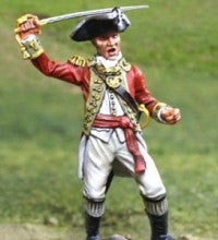 CS00833 - AWI British Regimental Officer advancing, American Revolutionary War - Piers Christian Toy Soldiers