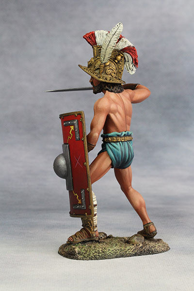 YZ90007 - Roman Gladiator, Samnite (2nd Century A.D.) from YZCaesar - Piers Christian Toy Soldiers - 3