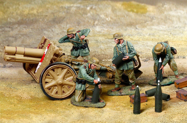 CS00870 - DAK North Africa Sig33  with four crew. German WWII North Africa - Piers Christian Toy Soldiers